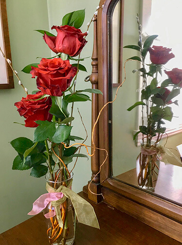 Three Roses in a Vase