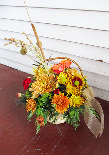 Traditional Floral Basket